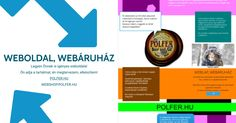 Weboldal, webáruház, névjegykártya készítés.