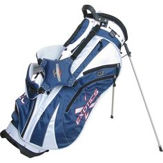 Featuring a premium padded double strap these mens exotics xtreme2 golf stand bags by Tour Edge also come with a lightweight quick-release stand with non-slip rubber feet
