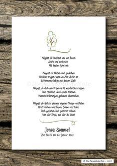 Druck/Print:+Segenswunsch/Vers+für+Kinder+-+Baum+von+Die+Persönliche+Note+auf+DaWanda.com