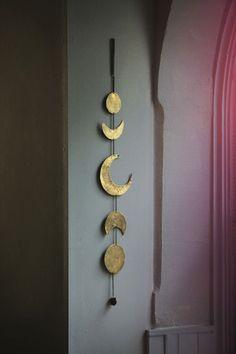 home decor hippie boho Full Moon moon sun bohemian Living Room zodiac decor gold gypsy free spirit crescent moon Mobile Bronze half moon wanderer bows&arrows bowsandarrowsforever zodiac calendar bowsandarrowsforever