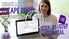 Learn how to create a virtual classroom escape room in Google Forms. These digital escape rooms for students are self-checking and students will love them!#vestals21stcenturyclassroom #classroomescaperoom #digitalescaperoom #classroomescaperoomingoogleforms #digitalescaperoomforstudents #googleforms #edtech #edtechtutorial #googleappsforeducation #googleformsescaperoom