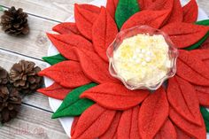 No Icing Poinsettia cookie platter
