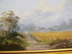 Mary Westie Country landscape oil painting