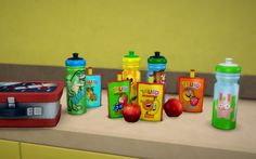 Budgie2budgie: Water Bottle and Fruit Smoothie • Sims 4 Downloads