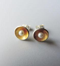Gold Reflect Stud Earrings   Jewelry Earrings   McKenzie Mendel Jewelry   Scoutmob Shoppe   Product Detail