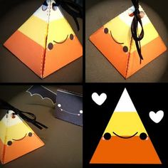 HELLO happy blog! Candy Corn Candy Box - DIY - Includes template without a face, so you can create your own.