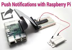 This Raspberry Pi project sends push notifications, triggered by an alarm door sensor, to iOS and Android apps. The Python source code can be downloaded here: http://goo.gl/N30qqC