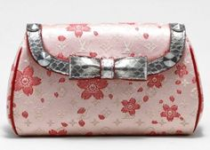 LV pink satin Cherry Blossom