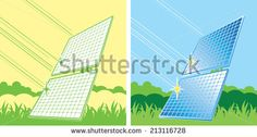 solar panels in color, alternative energy sources