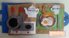 Uma delícia de Café da Manhã! Detalhe: Jogo Americano com sombreamento para associação da organização da mesa - inspiração Montessori! Curta nossa página no facebook:  https://www.facebook.com/RetalhoeAmor Entre em contato através do e-mail: retalhoamor@yahoo.com.br