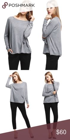 Cashmere Blend Knit Crew Neck Sweater The perfect layering piece, this ultra soft, luxe, cashmere blend sweater is cozy and warm without being heavy or bulky. The lightweight knit is great for cool autumn weather and under your coat when it gets really cold. It's a great spring transitional piece as well. Cute micro dot detail on the front pocket.  ❌ Sorry, no trades. fairlygirly Sweaters Crew & Scoop Necks