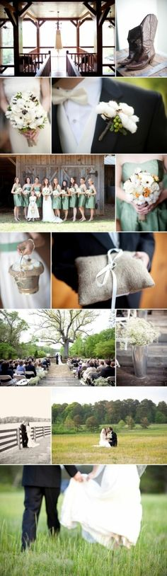 country wedding by TinyCarmen  Simple ring pillow idea