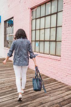 GiGi New York | My Style Vita Fashion Blog | Navy Jenn Bucket Bag