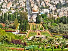 Shrine of the Báb and the surrounding gardens, Haifa, Israel, Landolia, a World of Photos