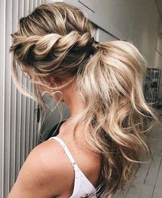 Prom hair styles are semi-formal to formal hairstyles that are appropriate for t. Hairstyles, Prom hair styles are semi-formal to formal hairstyles that are appropriate for the occasion. Such hairstyles can be done on any hair length and textur. Clip In Ponytail, Twist Ponytail, Ponytail Hair Extensions, Human Hair Extensions, Ponytail Extension, Formal Ponytail, Ponytail Updo, Ponytail Ideas, Sporty Ponytail