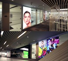 Back-lit Altos Walls made into light boxes at the L´Oreal Colombia office.