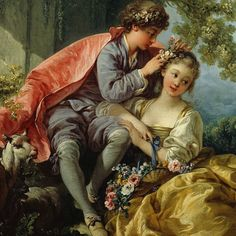 Happy Spring Equinox It's SPRING in this painting by on view at the Frick! Rococo Painting, Victorian Paintings, Victorian Art, Love Painting, Romantic Paintings, Classic Paintings, Beautiful Paintings, Classical Art, Renaissance Art