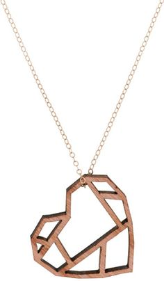Laser Cut Heart Pendant by Pico