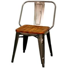 Grand Metal Side Chair  Set Of 4 GUNMETAL