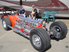 4 engines, 4 wheel drive . . . Double Double Engine Dragsters ala Tommy Ivo, 1960