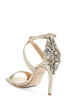 Badgley Mischka Cadence Crystal Embellished Sandal
