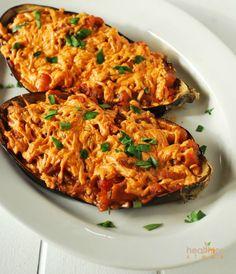 Baked Stuffed Eggplant (Vegan, Gluten Free) | Gluten Free and Vegan Recipes by Michelle Blackwood