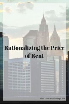 Determining the price of rent can be challenging. Check out my thought process and how I will be saving money while enjoying life. #rent #savings