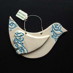 Bird clay ornament