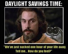 the six-fingered man on Daylight savings time