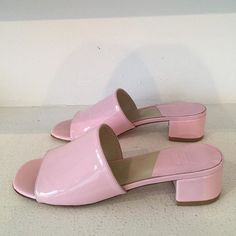 MNZ Sophie slides in Bubble gum pink patent by maryam_nassir_zadeh… Pretty Shoes, Cute Shoes, Me Too Shoes, Pretty In Pink, Aesthetic Shoes, Aesthetic Clothes, Aesthetic Style, Aesthetic Outfit, Pink Aesthetic