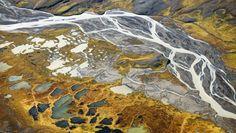 Island - Thjors-elva sett fra lufta. - Foto: Haarberg Photography / Barcroft / Haarberg Photography / Barcroft/Bulls