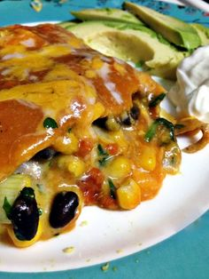 Black Bean and Spinach Enchilada Casserole - vegetarian, kid friendly, delicious, nutritious