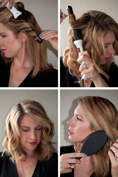 How to curl with a curling wand and glove (my new short length)