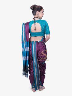 Marathi Saree, Nauvari Saree, Drop Waist, Royal Blue, Shop Now, Beautiful Women, Shopping, Color, Dresses