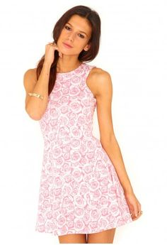 Nenet Rose Print Swing Dress - Dresses - Day Dresses - Missguided