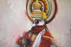A Kathakali dancer..another beautiful painting by Joyce Birkenstock