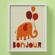This reminds me of the elephant I painted. It would be fun to make some wall art to hang above the changing table with scriptures referring to Noah's Ark.
