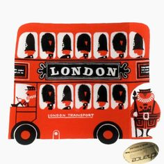 vintage Chance Glass dish depicting a London double-decker bus designed by Kenneth Townsend London Calling, London Bus, London City, London Illustration, Travel Illustration, Routemaster, Double Decker Bus, London Transport, Vintage London