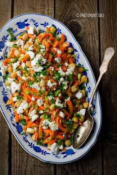 Spicy Chickpea, Carrot, and Feta Salad