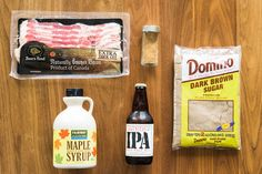 Here's what you'll need to make the glazed bacon: | The Best Kind Of Bacon Is Coated With Sugar And Beer