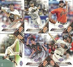 San Francisco Giants 2016 Topps Opening Day MLB Baseball 6 Card Team Set with Buster Posey Madison Bumgarner Plus