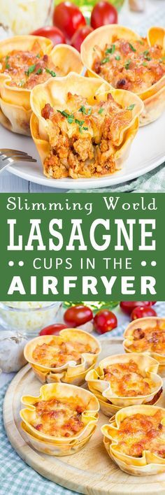 Slimming World Lasagne Cups In The Airfryer From RecipeThis.com