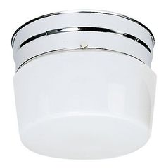 Nuvo Lighting 77/342 1 Light Flush Mount Indoor Ceiling Fixture - 6 Inches Wide Polished Chrome Indoor Lighting Ceiling Fixtures Flush Mount