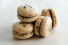 Coffee nutella french macarons