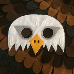 TRAJE de águila CALVA Set de 2 piezas / / alas y máscara / / | Etsy