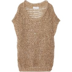 Nicole Farhi Open-knit sweater ($205) ❤ liked on Polyvore
