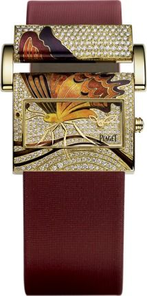 Yellow gold Diamond Watch  Piaget Luxury Watch.  Beautiful and unique