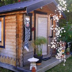 asian garage and shed by Lisa Hallett Taylor