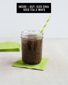 Chia Seed Green Tea - 2 Ways | HelloNatural.co