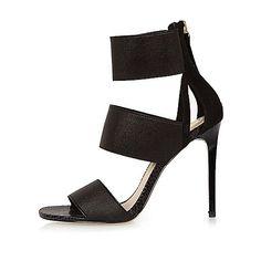 Black strap heel sandals - sandals - shoes / boots - women